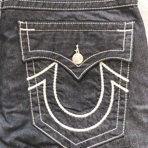 Men's True Religion Dark Wash Straight Leg Jeans